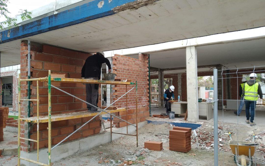 Les obres de la Biblioteca tornen a posar-se en marxa, després de l'aturada obligatòria dels sectors no essencials per a contindre l'avanç del COVID-19