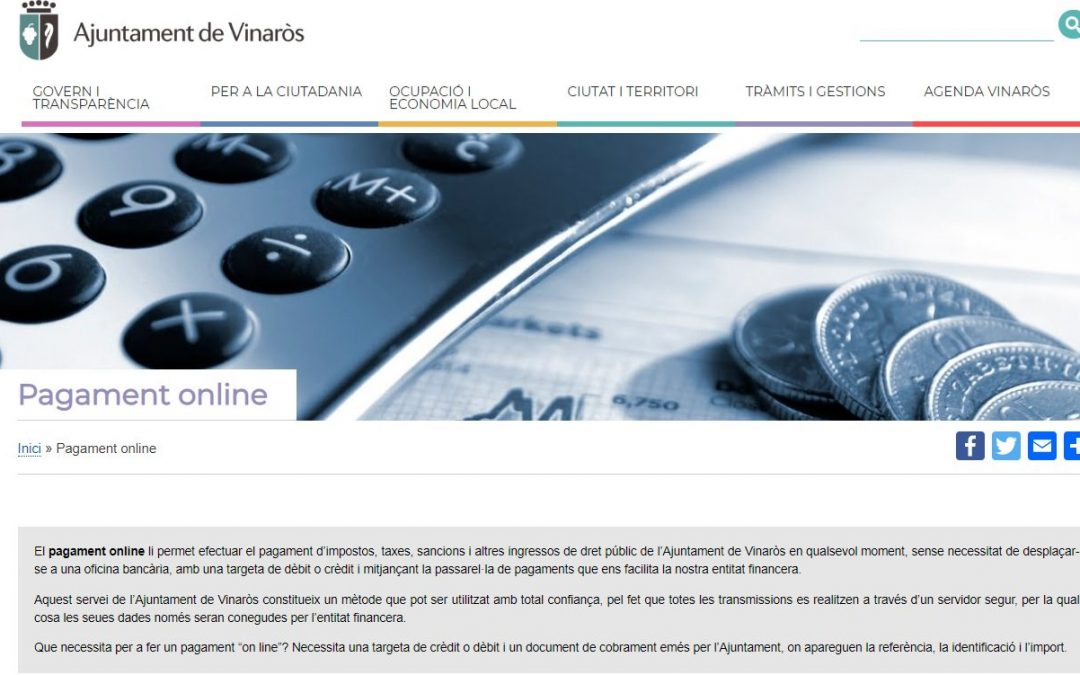 El Ajuntament de Vinaròs pone en marcha el portal tributario